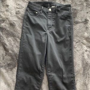 High waisted black jeggings / jeans - worn once